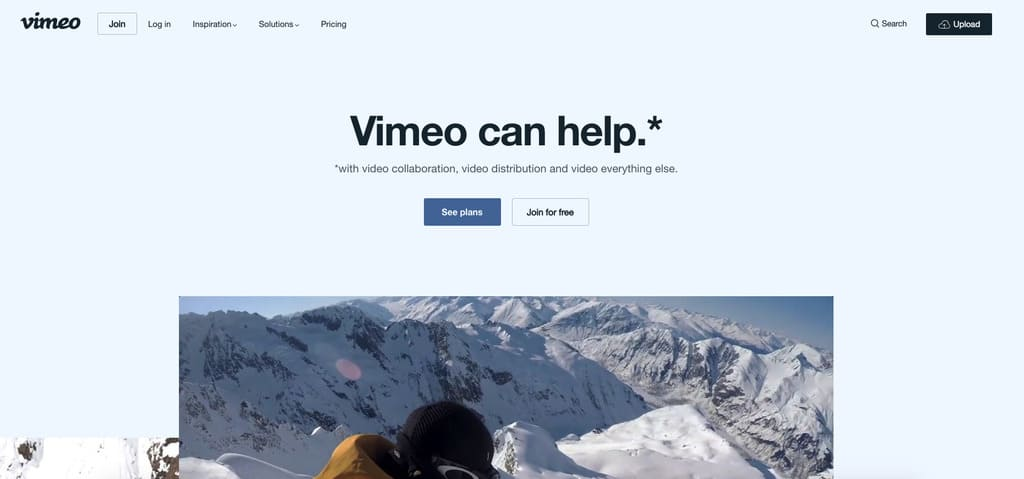 vimeo видео хостинг для онлайн курсов